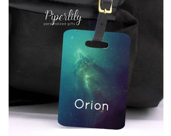 Personalized Luggage Tag Space Galaxy Luggage Tag Customized Travel Tags Custom Bag Tags Stars Outer Space Name Address Suitcase Tags
