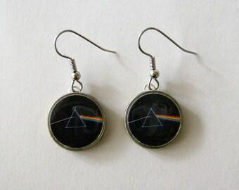 Pink Floyd Prism Dime Earrings Stainless Steel Ear Wires Handmade