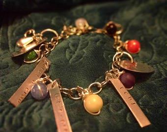 Final Fantasy VII Charm Bracelet Tch What a Crew!