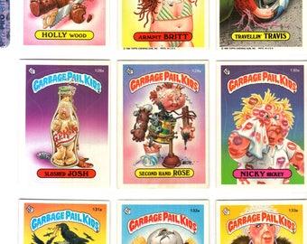 Vintage Lot of 81 Garbage Pail Kids Trading Cards 4th Series No Duplicates Topps 1986