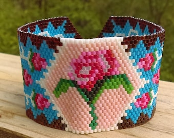 Victorian peyote cuff Bracelet