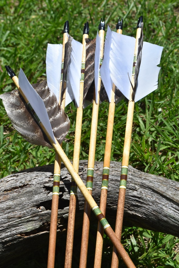 Archery Flu Flu arrows,wood arrows, small/aerial game hunting arrows