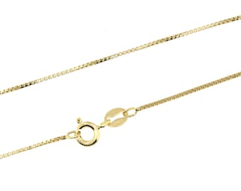 24 inch 14K GOLD Filled 1.2 mm Box Chain - Finished and READY To WEAR with Spring Clasp