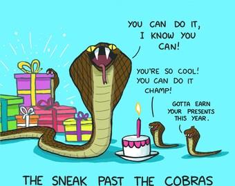 Cobra Birthday Card