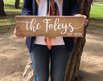 Wood Last Name Sign, Name Sign, Family Name Sign, Family Sign, Wooden Signs, Custom Wood Sign, Personalized Last Name Sign