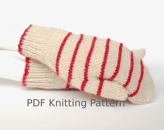 Mitten knitting pattern, pdf pattern, knit mittens, knitting pattern, knitting pattern ladies, knitting pattern for women,