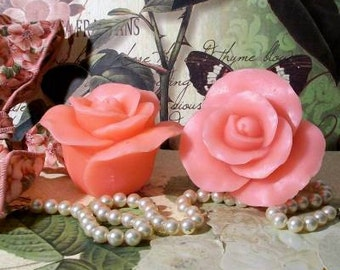 Beeswax Pink Floating Rose Candle