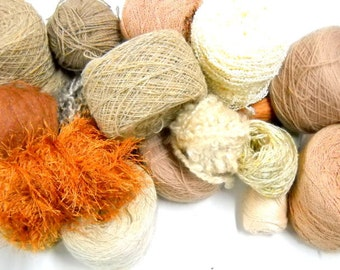 Earth Tone Vintage Yarn, Mystery Box of Yarn, Knitting Supplies, Crochet Supplies, Ybox7/earth