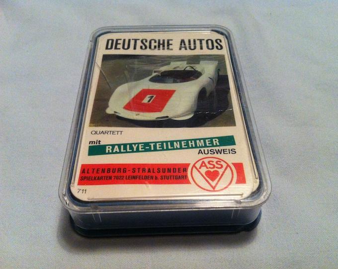 Vintage Games Quartet German cars card games cards