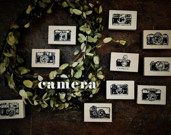 "Beautiful Japanese Wooden Rubber Stamp from Chamil Garden / Little Path  Vol. 3 - ""Camera"" Series at your choice for journaling, snail mail"