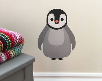 Penguin Decal, Penguin Wall Sticker, Baby Penguin, Penguin Nursery Decor, Penguin Wall Art, Penguin Nursery Art, Arctic Theme, Wall Stickers