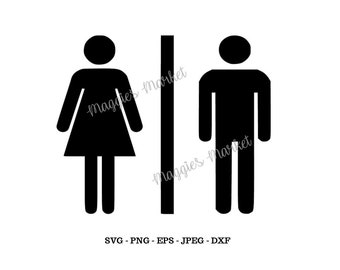 Mens Womens Bathroom Svg, Png, Eps, Jpg, Dxf - Vinyl Cut File - Digital Download - Instant for Cricut, Silhouette, Cameo Cutters