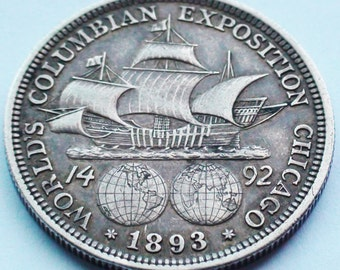 U.S. 1892-1893 Columbian Exposition Commemorative Silver Half Dollar, Chicago World's Fair