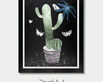 Cactus Art. Cold Clear Light. Arizona, Cacti Art, Phoenix, Desert Cactus Art, Tucson, Cactus Lover Gift, Succulent Lover Gift