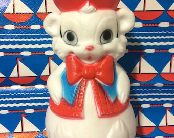 Vintage Roly Poly Chime Bear