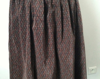 Vintage smooth velvet skirt 70 years