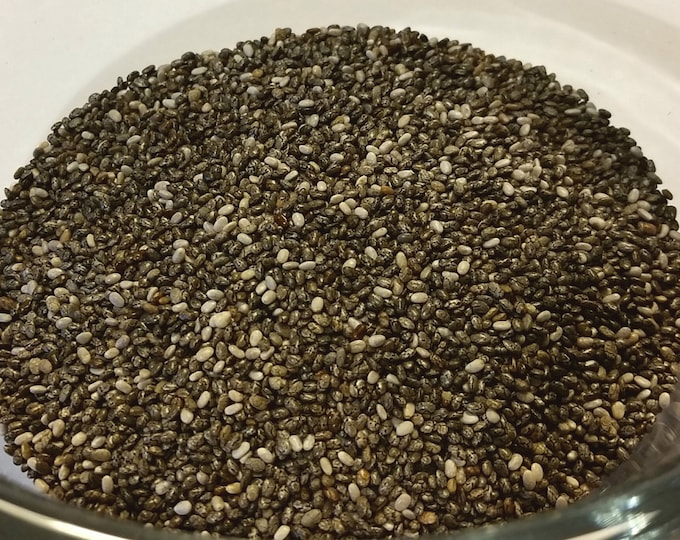 6-12 oz Chia Seeds Organic no fillers no sulfites no addatives no preservatives
