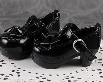 Fatiao - New Dollfie Yo-SD 1/6 BJD Doll High Heeled Shoes - Black (Size 4.5cm)