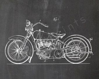 Harley Printable | Motorcycle | Harley Wall Art | Harley Art | Harley Print | Harley Decor | Harley Davidson | Patent Print | Dad Gift | Man