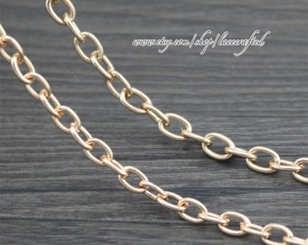 1 pc 100cm(39.3'') 5mm 6mm width light golden chains purse chain bag chain shoulder bag chain