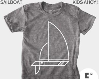 Sailboat - Boys and Girls Unisex TShirt