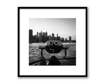 New York City Watching Manhattan, NY View point Print, NYC Photography, Manhattan Bird in New York , Wall decor NYC art