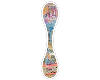 """PREORDER. OliTravelers """"Paris to Rome""""  Large Magnetic Clip"""