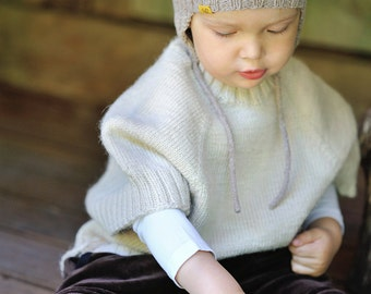 Poncho, knitted baby poncho, wool poncho, knit poncho, girls, boys poncho
