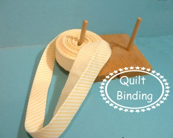 Traditional Quilt Binding - Sunny Yellow  Stripes