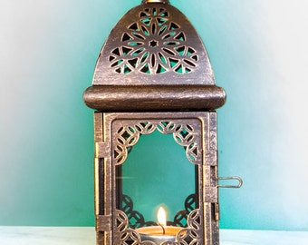 Free Shipping Worldwide - Wedding Centerpieces - Unique Exotic Lanterns - Moroccan decor - Tealight Candle Holders - Set of 4