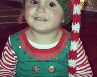 Toddler Baby Santa Elf Stocking Cap Striped Christmas Holiday