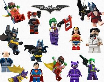 LEGO BATMAN CLIPART, 28 High Quality Png Images, Transparent Backgrounds, 300 dpi