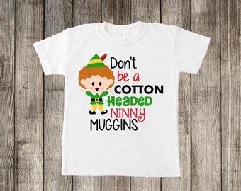 Cotton Headed Ninny Muggins Christmas Little Kids T-shirt or Baby Onesie