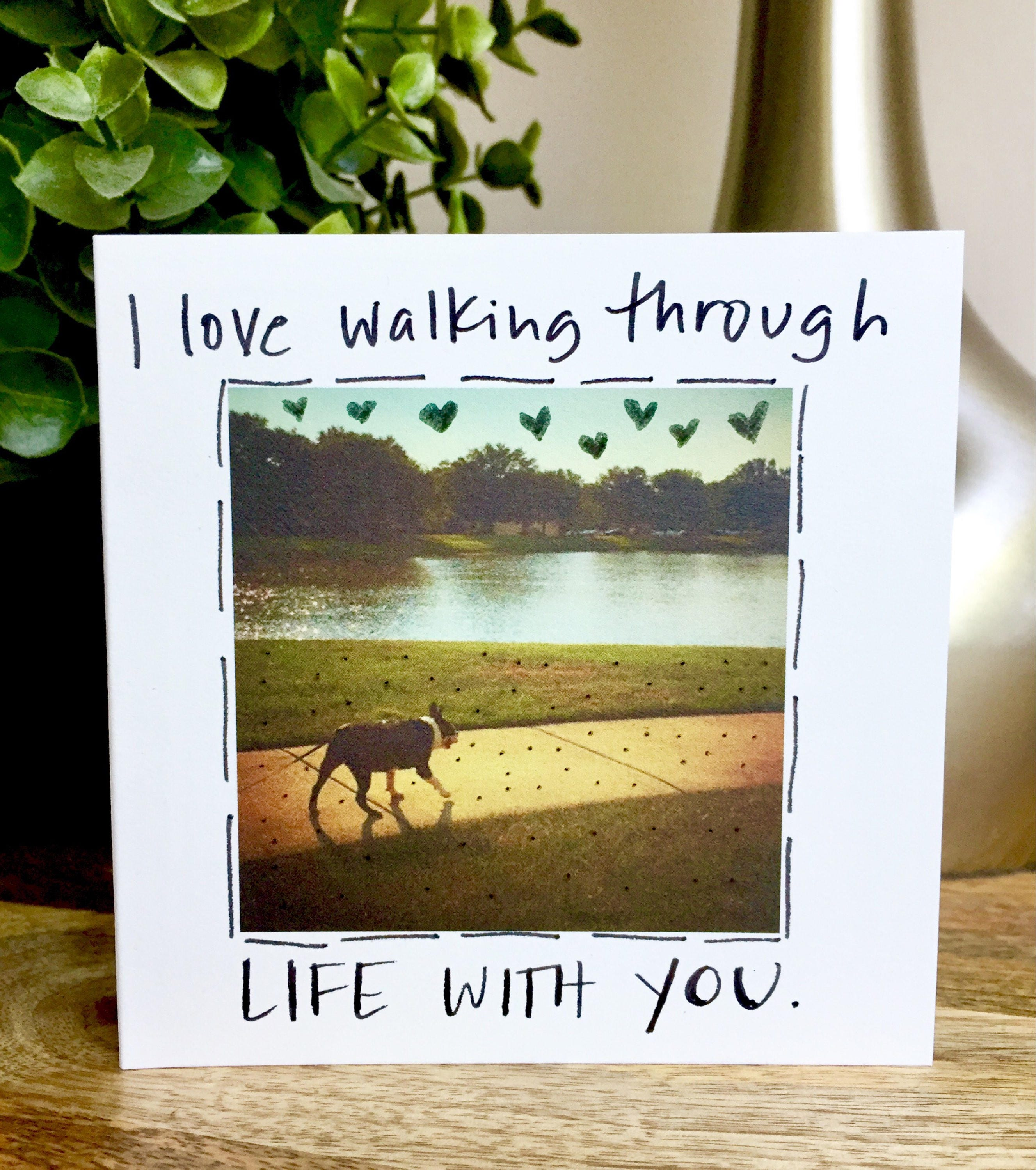 Life With You 1st Anniversary 1 Year Anniversary Card One Year