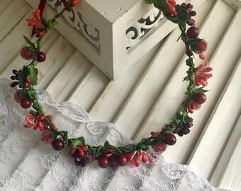 Dirndl hair Wreath with a crown