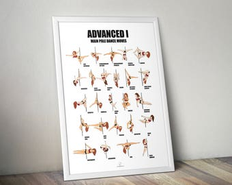 Posters pole dance moves advanced 1 level