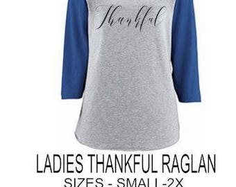 LADIES THANKFUL RAGLAN