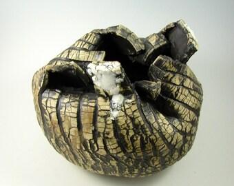"Sculpture – Ceramic  Art - ""Death of a Tree""– Handmade Centerpiece – Wheel Thrown Stoneware Art–Unique Pottery Ships Today"