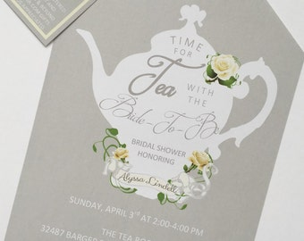 Tea Party Shower Invitations Tea Pot Style