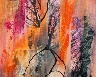 """Handmade art card """"Branched"""""""