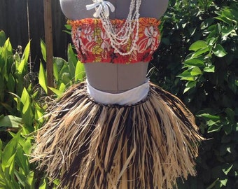 Short Grass Skirt Or Hula Skirt.For Children & Man/Boys. CHOOSE Any 2 or One Color.
