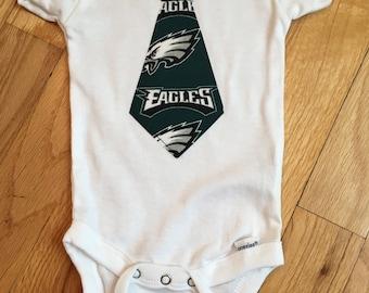 Philadelphia Eagles Tie Onesie, size 3-6M