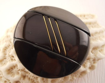 BUTTONS: Very high fashion black and gold buttons, fur coat buttons, price per button.