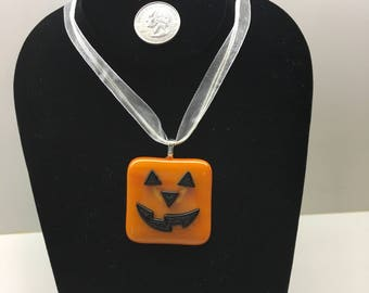 Halloween Pumpkin Jack-O-Lantern Pendant