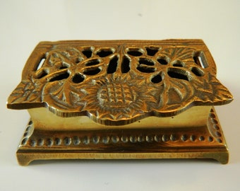Art Nouveau Brass Stamp Box