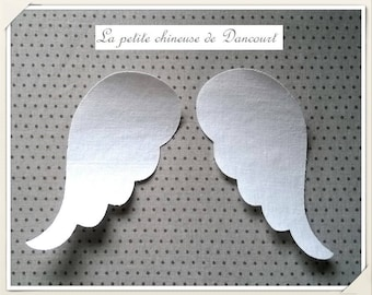 Pair of fusible fabric Angel Wings