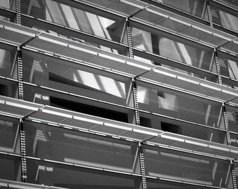 Architecture Art, Geometry prints, urban art, BW prints, Modern, contemporary art, Richard Meier, Barcelona