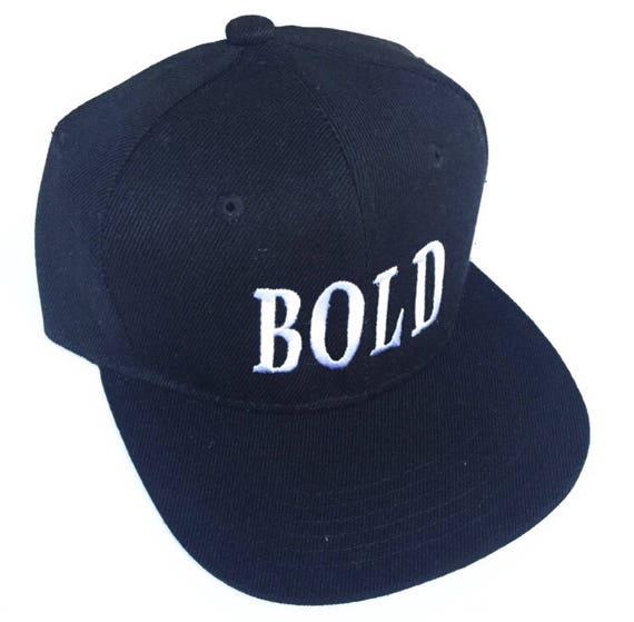 BOLD  Black Snapback