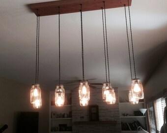 10 Light DIY Mason Jar Chandelier