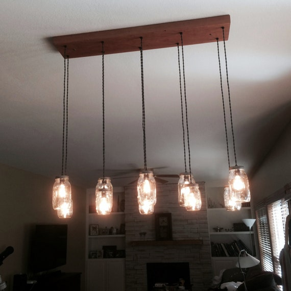 14 Light Diy Mason Jar Chandelier Rustic Cedar Rustic Wood: 10 Light DIY Mason Jar Chandelier Rustic Cedar Rustic Wood